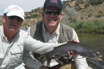 Nothings better than catching a big rainbow trout while fly fishing in New Mexico.