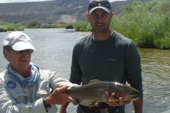Admiring another great San Juan River trout.